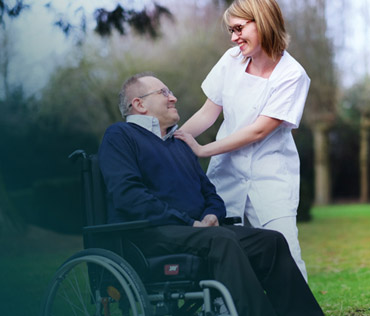 A locum Wheelchair Therapist and patient